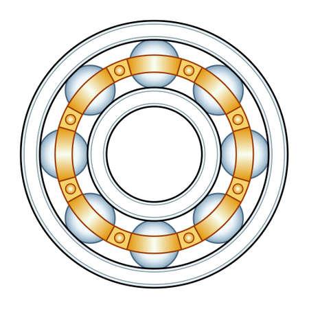 Illustration of the ball bearing design Vektoros illusztráció