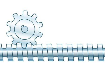 Illustration of the screw gear pair transmission Illustration