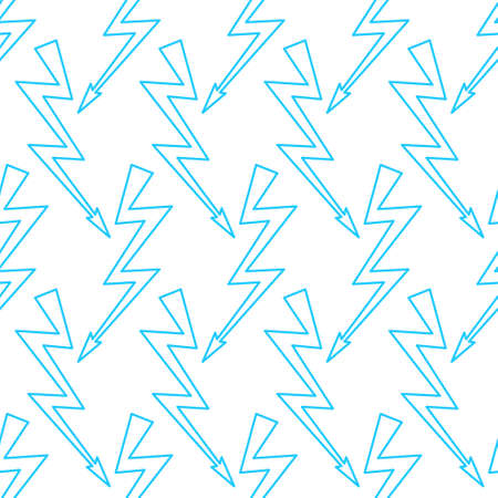 Seamless pattern of the abstract lightning symbols Illustration