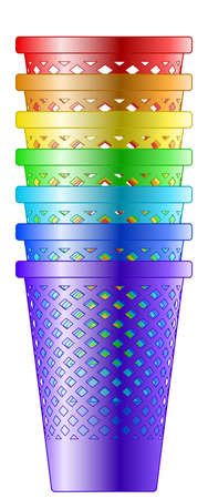 Illustration of the recycle bin pile