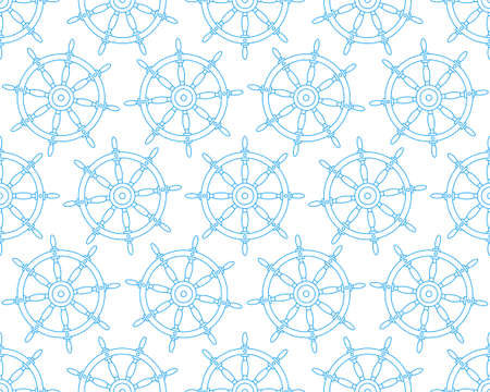 Seamless pattern of the contour steering wheels