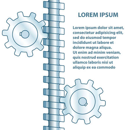 Illustration of the abstract screw gear pair transmission Illustration