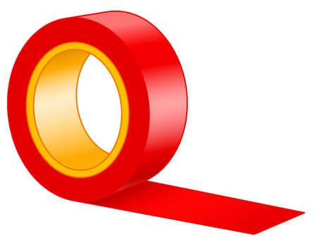 Illustration du rouleau de ruban Vecteurs