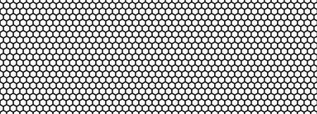 Seamless pattern of the black hexagonal netting