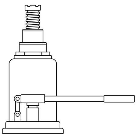 Illustration of the contour hydraulic lifting jack Çizim