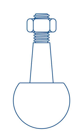 Illustration of the contour spherical bearing from ball joint