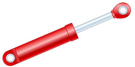 Illustration de l'icône du vérin hydraulique ou de l'amortisseur Vecteurs