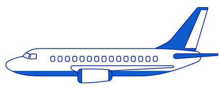 Illustration of the aeroplane side view