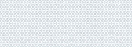 Seamless pattern of the white hexagonal netting