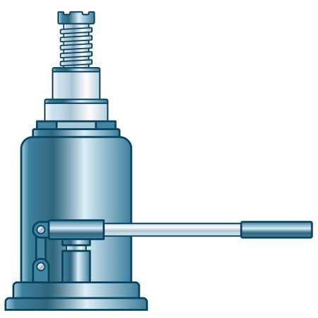 Illustration of the hydraulic lifting jack Illustration