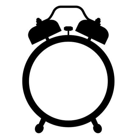 Illustration of the silhouette alarm clock icon