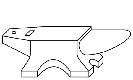 Illustration of the contour anvil tool icon Çizim