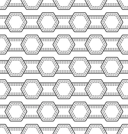 Abstract seamless pattern of the hexagon shapes Çizim