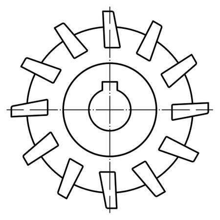 Abbildung des zylindrischen Konturfräsers