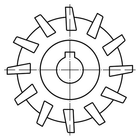 Illustration de l'outil de fraisage de contour cylindrique