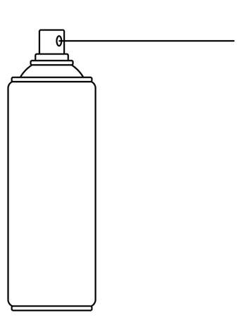 Illustration of the contour aerosol spray can