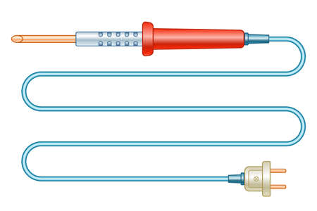 Illustration of the electric soldering iron tool