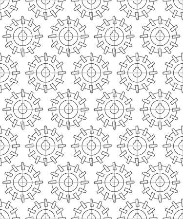 Seamless pattern of the cylindrical contour milling cutter tool