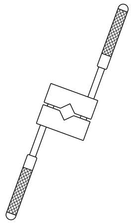 Illustration of the contour tap holder tool