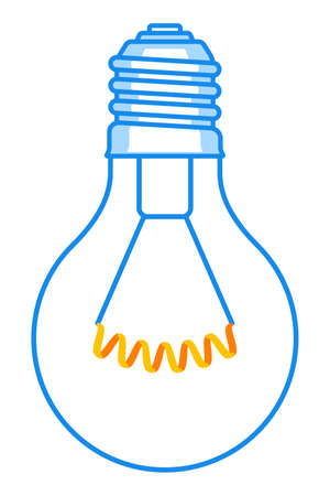 Illustration of the abstract light bulb