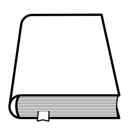 Illustration of the contour book icon Çizim