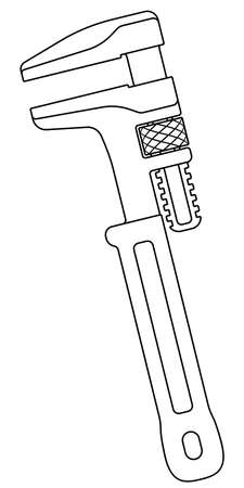 Illustration of the contour adjustable wrench tool