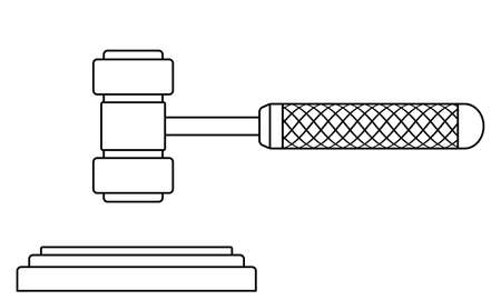 Illustration of the contour judge or auction gavel