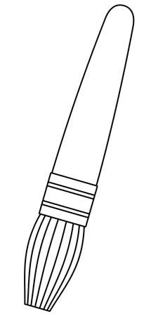 Illustration of the contour small brush icon