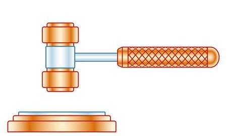 Illustration of the judge or auction gavel Illusztráció