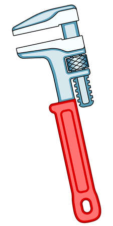 Illustration of the adjustable wrench tool Stock Illustratie