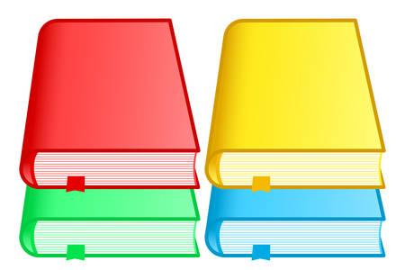 Illustration of the book icon set Reklamní fotografie - 124805851