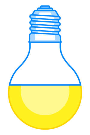 Illustration of the abstract led light bulb