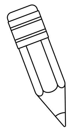 Illustration of the contour small pencil icon