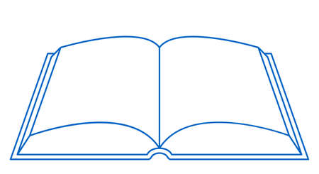 Illustration of the contour open book icon