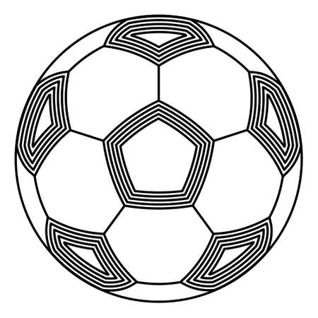 Illustration of the abstract contour soccer ball