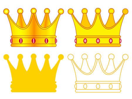 Illustration of the royal crown set