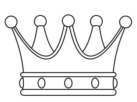 Illustration of the contour royal crown icon