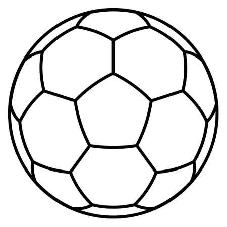 Illustration of the contour soccer ball symbol Çizim