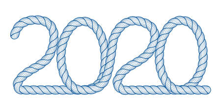 Illustration of the 2020 abstract rope lettering Illustration