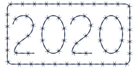 Illustration of the 2020 barbed wire lettering