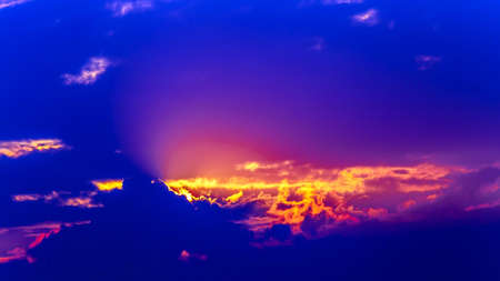 Red sunrise clouds sky background