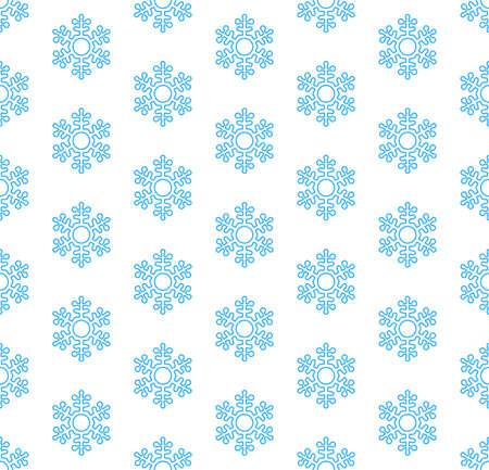 Seamless hexagonal geometric pattern of the abstract snowflake symbols