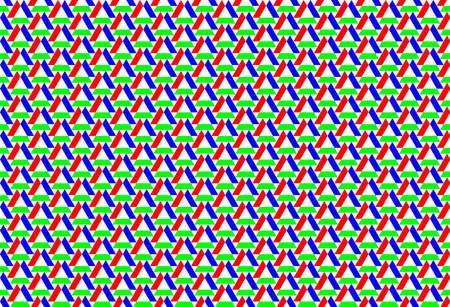 Seamless ornament of the abstract rgb matrix