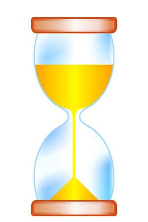 Illustration of the sand clock icon Ilustracja