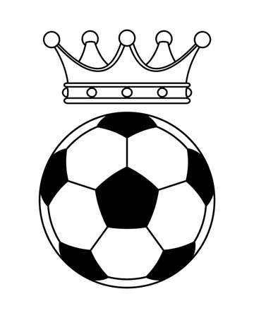 Illustration of the soccer ball and crown