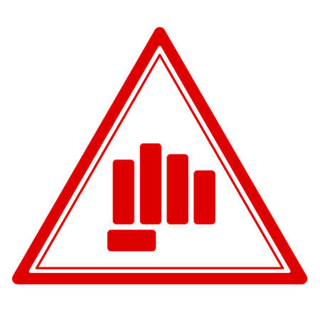 Illustration of the abstract fist punch danger sign
