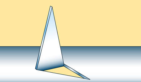 Illustration of the abstract metal spike