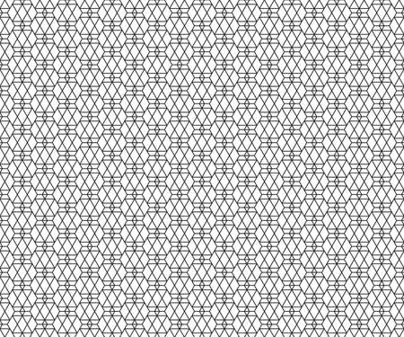 Abstract seamless pattern of geometric combinations
