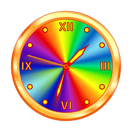 Illustration of the gold clock icon. Arrows can be freely rotated