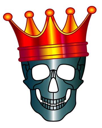 Concept illustration of the skull in crown symbolizing deadly coronavirus epidemic. Novel coronavirus 2019-nCoV